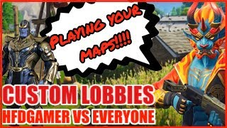 End Game / BR Custom Lobbies | $25 giveaway | Playing Your Fortnite Creative Maps