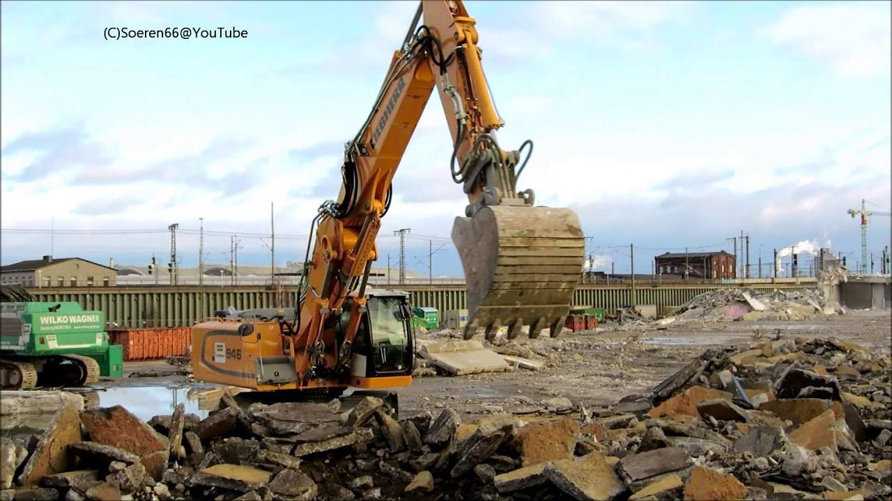 Abriss einer Lagerhalle mit LIEBHERR 954 Longfront Teil 6