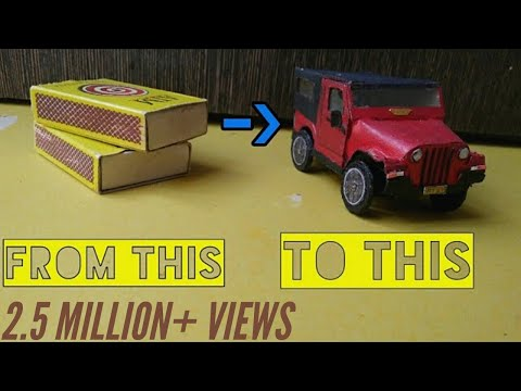 How to make matchbox car | toy car made at home | mini car
