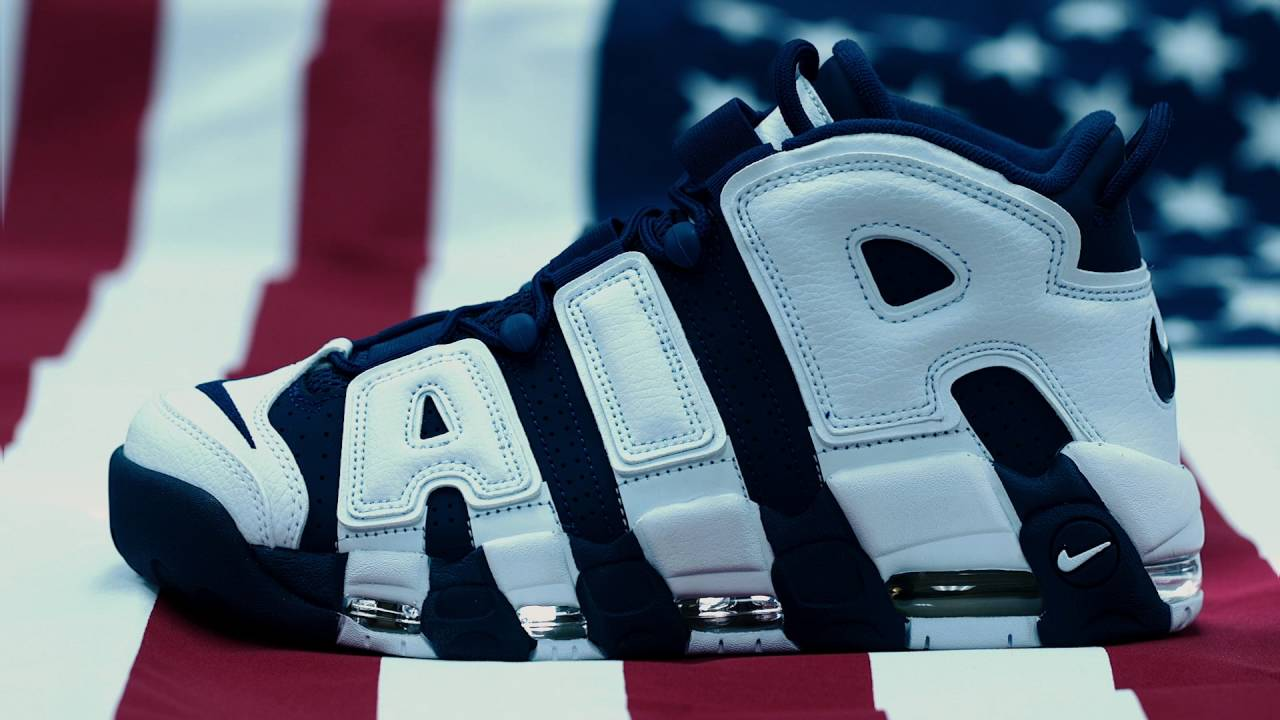 newest 10b5d 87bd7 Scottie Pippen NIKE AIR MORE UPTEMPO OLYMPIC