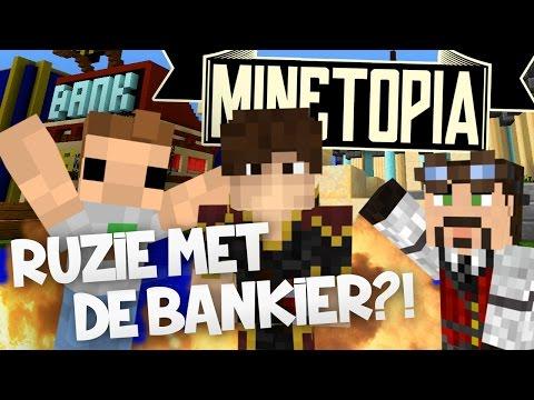 RUZIE Met De BANKIER?! - MINETOPIA #1