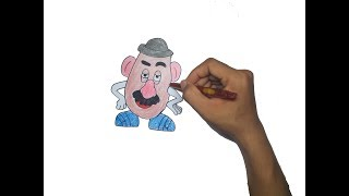 How to Draw Mr. Potato Head From Toy Story