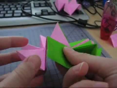 How To Make The Revealed Flower Origami Youtube