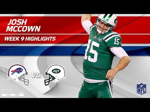 Josh McCown's Big Win w/ 2 TDs vs. Buffalo | Bills vs. Jets | Wk 9 Player Highlights