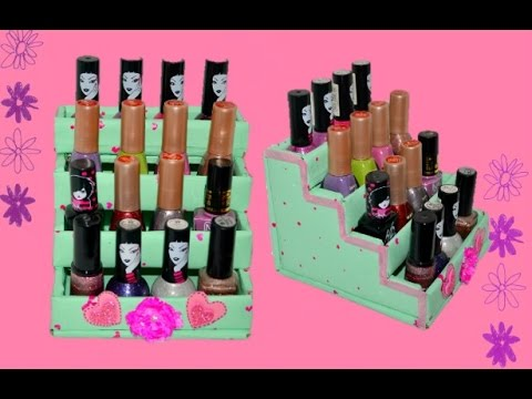 DIY nail polish organizer |using cardboard|how to make nail polish organizer