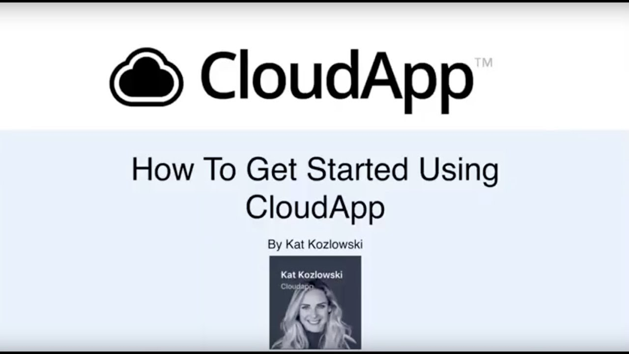 How to get started using CloudApp