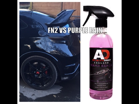 Filthy FN2 Type -R vs Autobrite purple rain alloy wheel cleaner [ product test ]