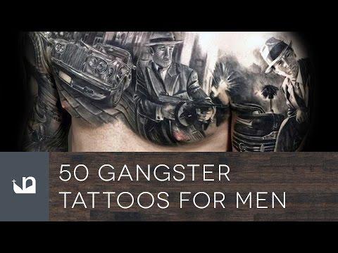 50 Ganster Tattoos For Men - Mobster Ink