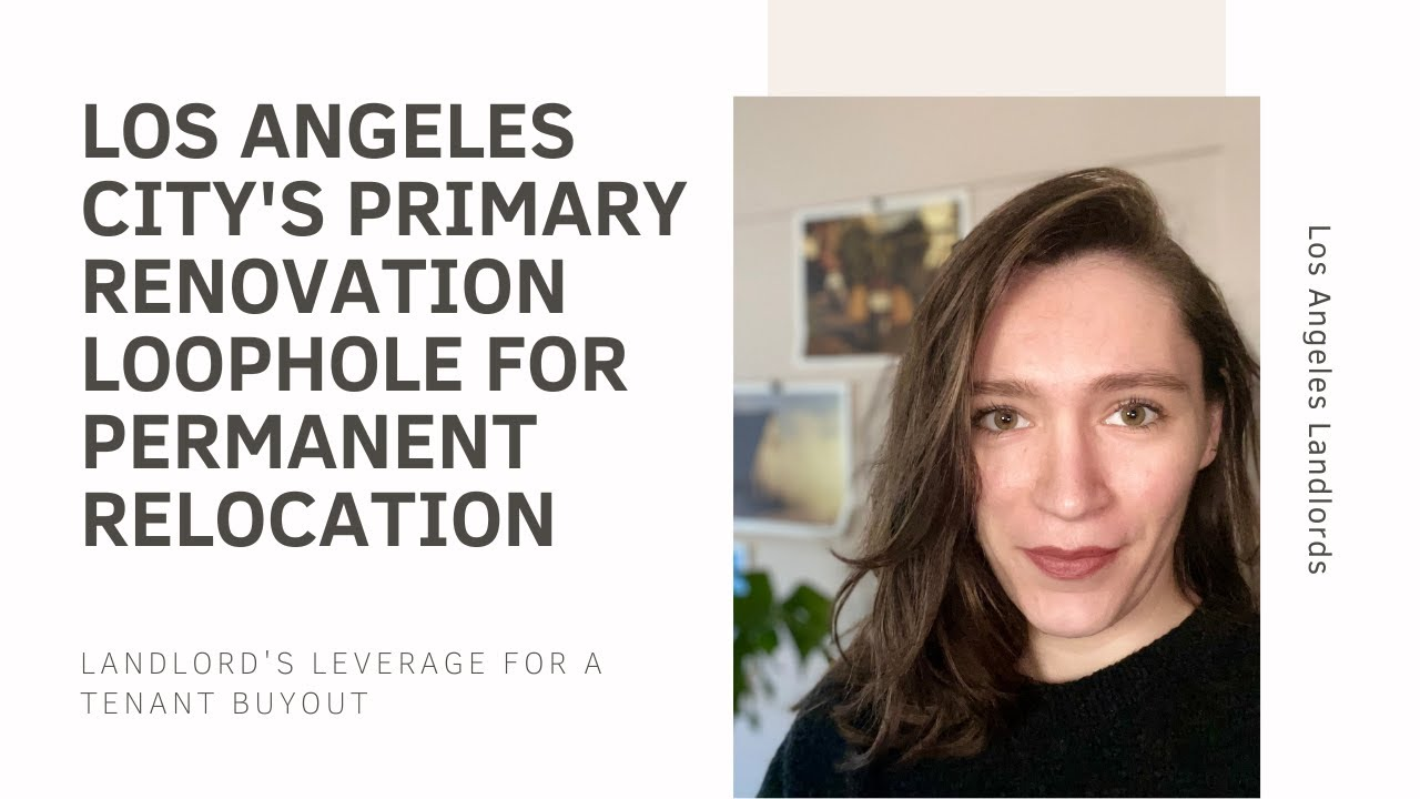 Los Angeles City Primary Renovation Work and Relocation- A Landlord Guide