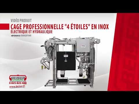 Vidéo produit : Cage de contention en inox électrique et hydraulique