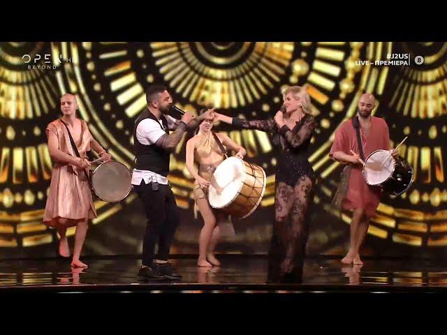 Ευρυδίκη Παπαδοπούλου και Τριαντάφυλλος τραγουδούν Παραδόθηκα σε σένα | J2US | OPEN TV