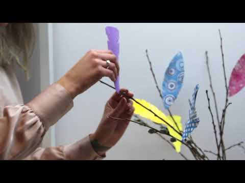 DIY: Paper easter feathers