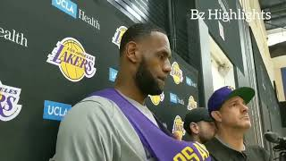 LeBron James On Play Where Kyle Kuzma Pushed Him To Play Defense