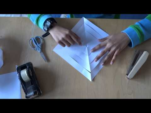 Origami Instructions: How to make a 3D paper Snow Flake / Paper Star in