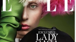 """LADY GAGA ELLE MAGAZINE PHOTOS & BEHIND THE SCENES & NEW """"CANDY ART"""" SONG! WHAT'S UP WITH GAGA?"""