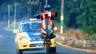 South Indian Hindi Dubbed Movie The Real Dostana | Super Biker Car Chase Scene