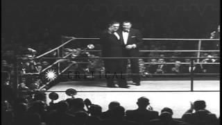President of Argentina Juan Domingo Peron presents medals to boxers Jack Dempsey ...HD Stock Footage