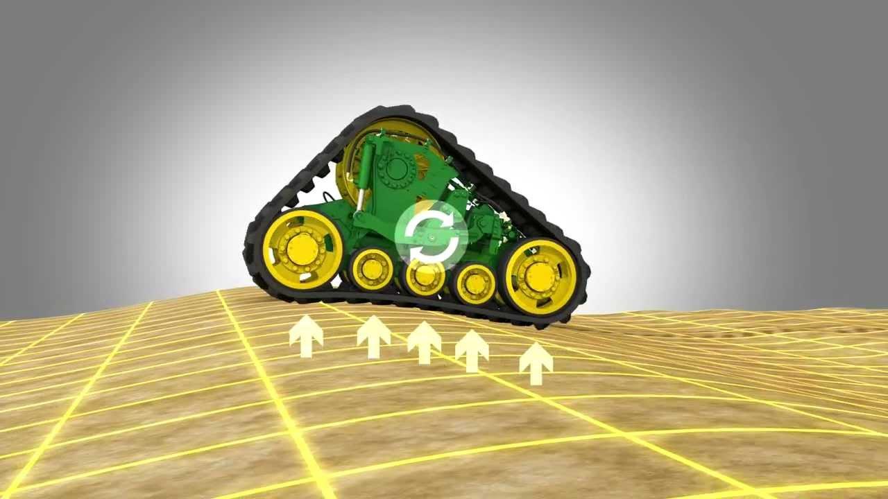 John Deere Combine Tracks Animation