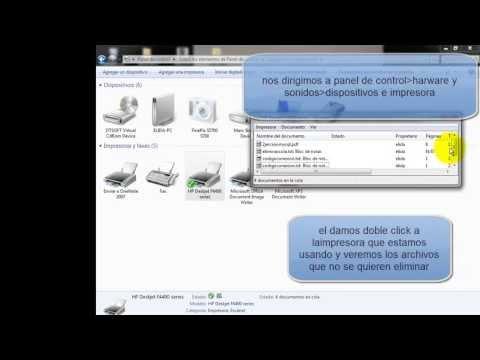 solucion para eliminar atasco de archivos en la cola de impresion