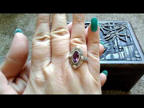 *ASMR* Diamond and Sterling Silver, Vintage Jewelry 🔔📣🎧