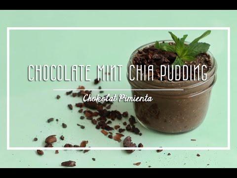 Chocolate Mint Chia Pudding| ♥ Chokolat Pimienta