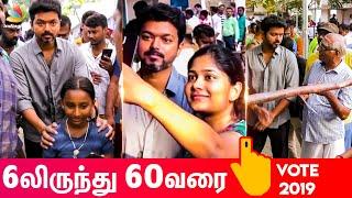 Vijay Wins People's Heart During Election | Thalapathy Voting Video | Lok Sabha 2019