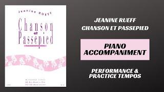 Jeanine Rueff – Chanson et Passepied (Piano Accompaniment)