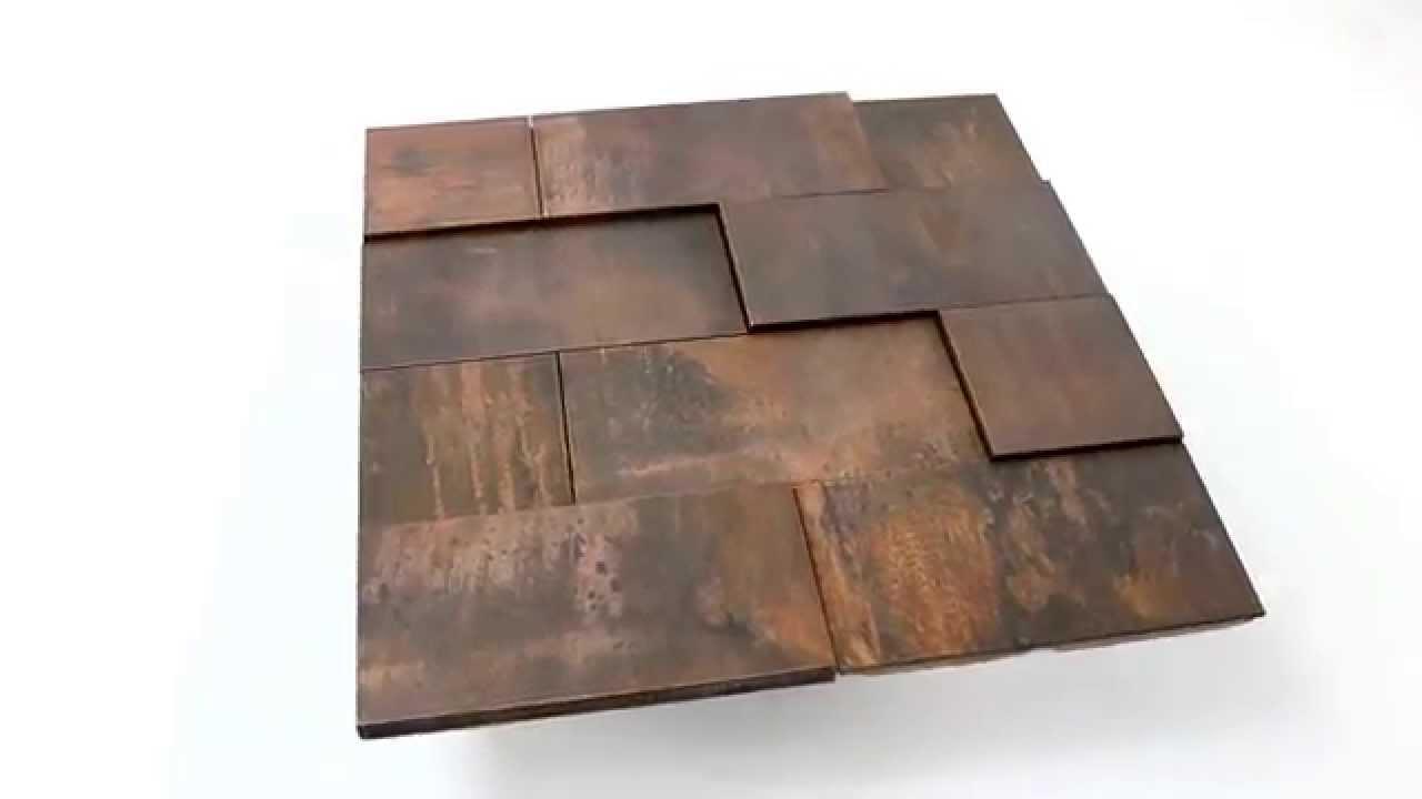 Kupfer metall design mosaik fliesen 3d effekt youtube - Fliesen rostoptik ...
