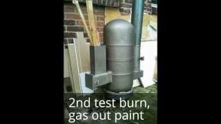 How to make a Rocket Heater out of two gas bottles