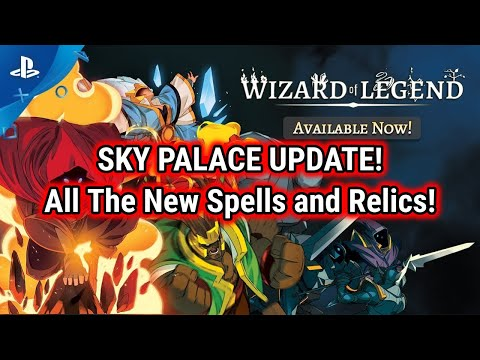 Wizard Of Legend PS4 Gameplay [Sky Palace Update-All The New Spells And Relics]