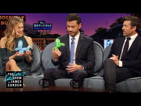 HighPressure Jobs & Balloon Animals w Renée Zellweger, Patrick Dempsey & Jimmy Kimmel