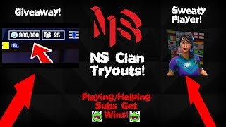 🔴 NS Clan Tryouts // Giveaway!  // Tips! // ❤Ninja // Tfue❤ // 60+ Wins! // Fortnite Gameplay! #19