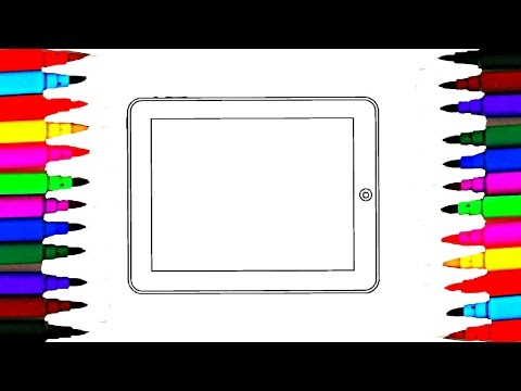 Coloring Pages Ipad Tablet PC l Computer Drawing Pages To Color For Kids l Learn Rainbow Colors