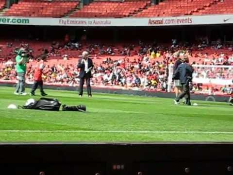 Arsenal Members Day 2010. Penalty against Manuel Almunia (trimmed version)