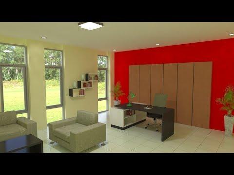 Interior design using Sketchup and Vray