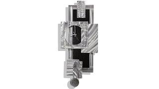 Titan Clock -  Contemporary Metal Panel Wall Art Clock By Jon Allen