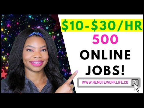 500 Work-From-Home Jobs! No-Phone. Global. Entry Level | Online, Remote Work-At-Home Jobs