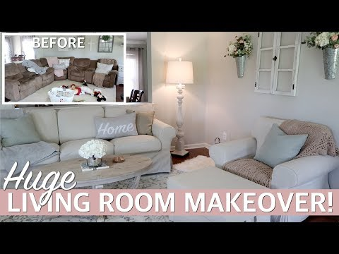 LIVING ROOM MAKEOVER 2019 w/ Living Room Decorating Ideas! ft. IKEA #Sponsored   Lauren Midgley