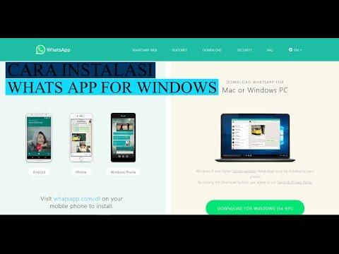 Cara Download Dan Instal WhatsApp For Windows Di Komputer Atau Laptop