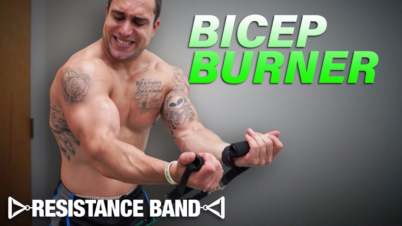 Resistance Band Bicep Workout At Home to Get Ripped!