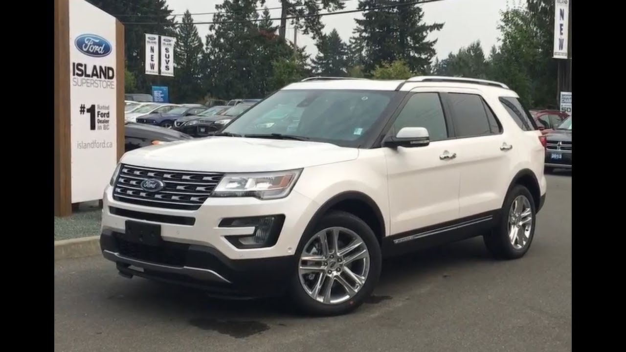 2017 Ford Explorer Limited Trailer Tow Nav Awd Review Island Ford