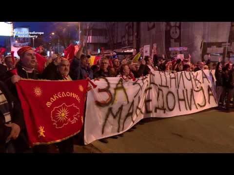 More Protests In Macedonia Against Language Deal