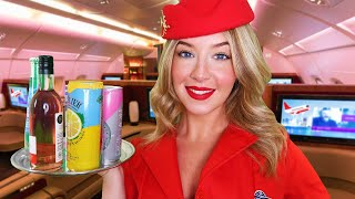 ASMR First Class Flight Dining Service ✈�