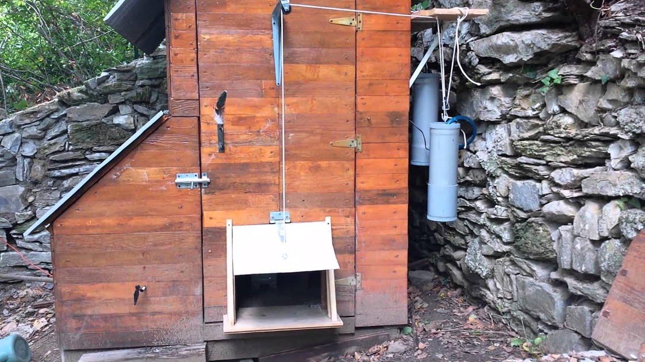 Porte poulailler automatique hydrauliques youtube - Porte poulailler automatique ...