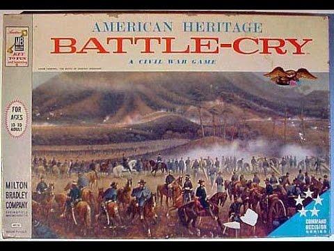 BattleCry  Old School Board Game  Milton Bradley 1961, Battle Cry