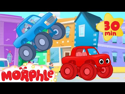 Thumbnail: The Sticky Truck Chase With Morphle! Truck video for kids. (animation cartoon)