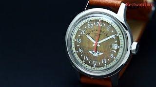 видео Наручные механические Штурманские часы Стрела