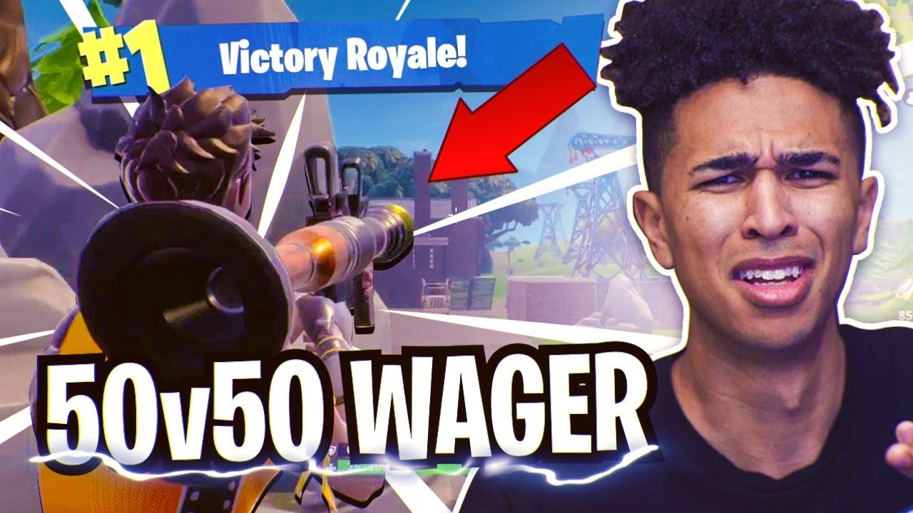 *CRAZIEST* 50v50 VBucks Wager! 8 Year Old Teammate Wants ...