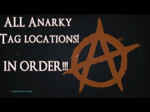 ALL Anarky Tags Symbols IN ORDER!! Batman Arkham Origins Collectibles - Database Gotham City Intel