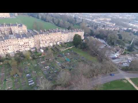 A View Of Bath From The Sky
